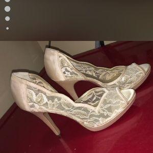 Lace Gold Shoes